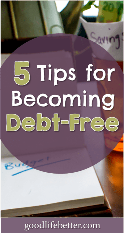 Looking for some tips for becoming debt free? Here are 5 that helped me pay of $60k!