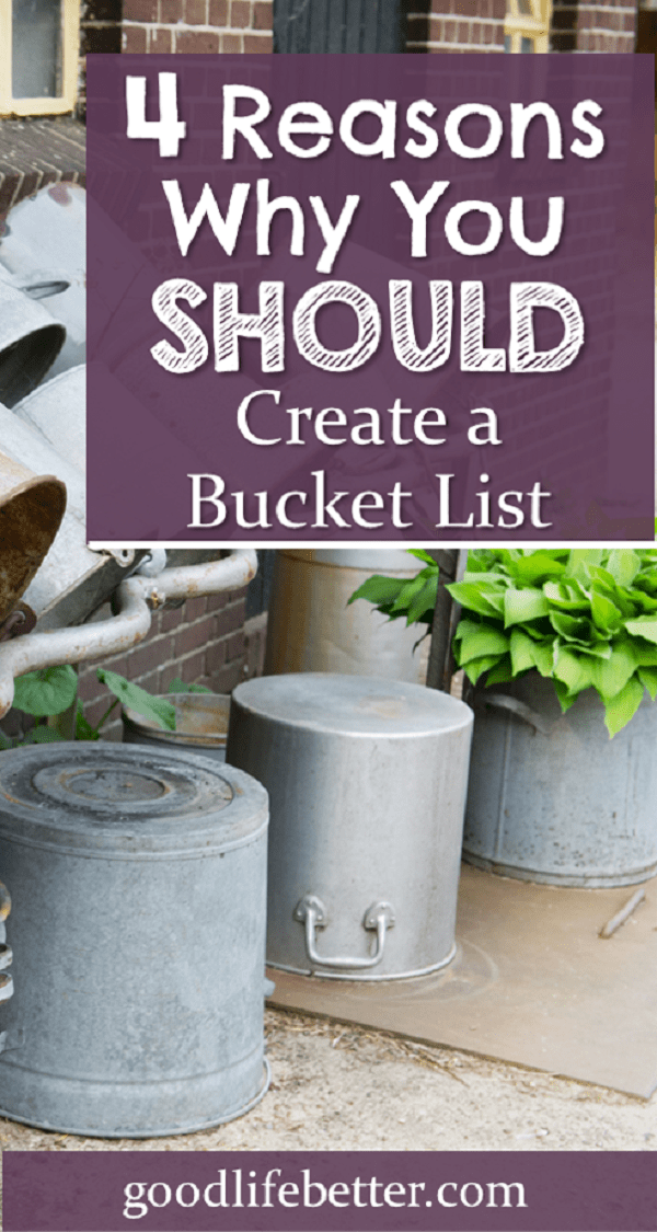 Think you're too cool for a bucket list?  Think again.  Creating one just might be the thing you need to bring excitement back to your life! #BucketList #HappierLife