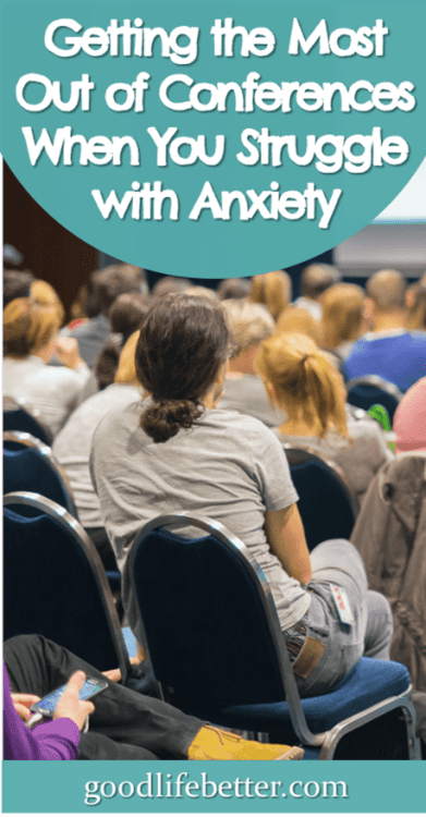 While I love conferences, I struggle to deal with the anxiety and fear they trigger. For a recent one, I implemented a lot of strategies to help. I still had one major fail but otherwise, the tricks I used really helped! #Stress #Conferences #Anxiety #GoodLifeBetter