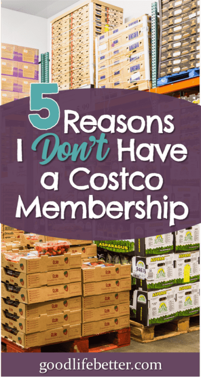 Some people swear by shopper's clubs like Costco for saving money on groceries but they won't help everyone save money. I am definitely someone who wouldn't recover the cost of membership. #SavingMoneyTips #SavingMoneyonGroceries #GoodLifeBetter