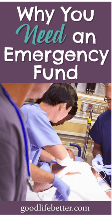 Do you have an emergency fund? Having money put aside in case of a crisis will ensure you can focus on solving the emergency and not how to pay your bills. I'm working on building my emergency fund, stashing it in a high interest savings account so I can access it when I need it. #EmergencySavings #PlanningforEmergencies #GoodLifeBetter