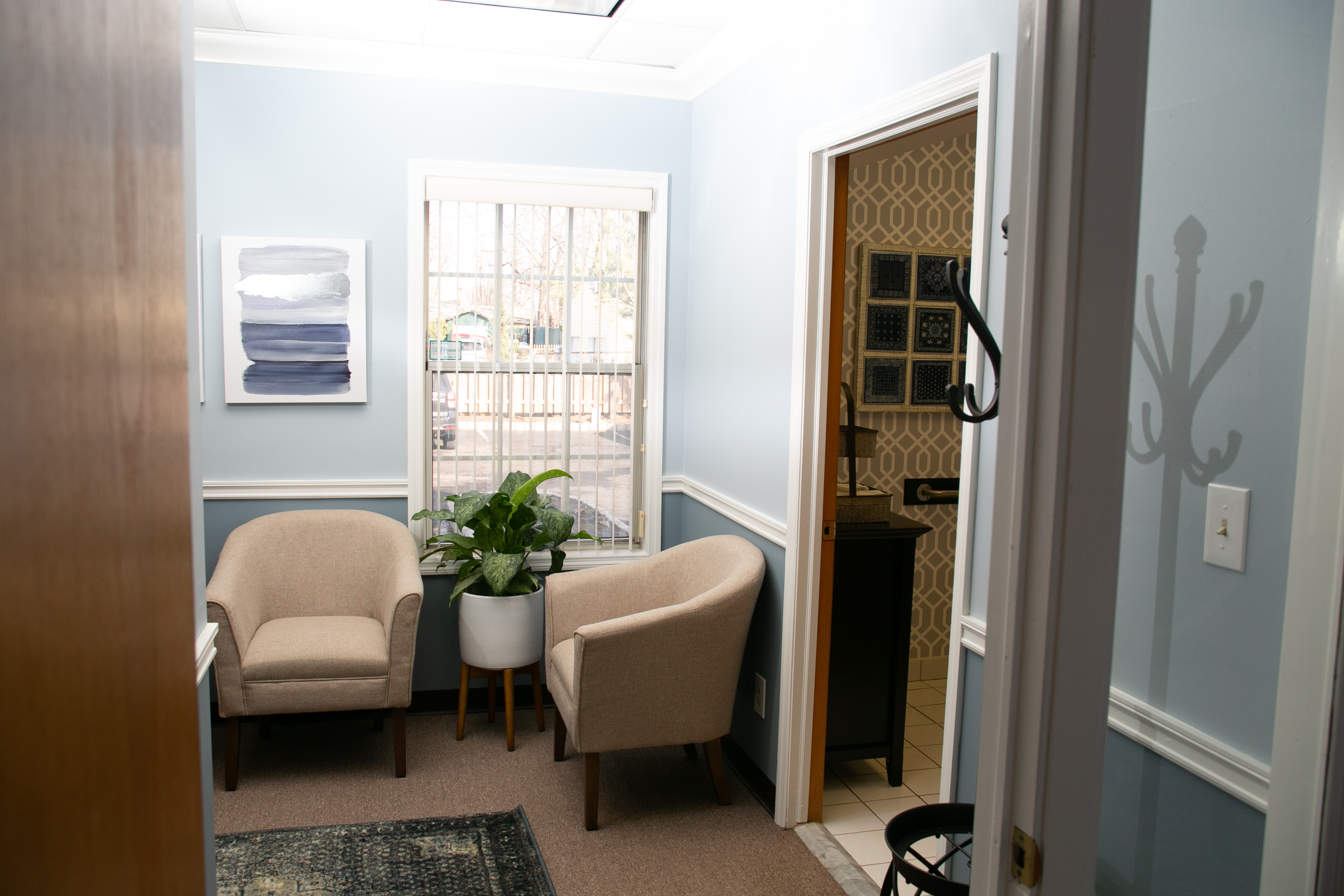 Door to Bathroom | Our Office | Good Life Center | Therapy Services in Cranford, NJ | 07016