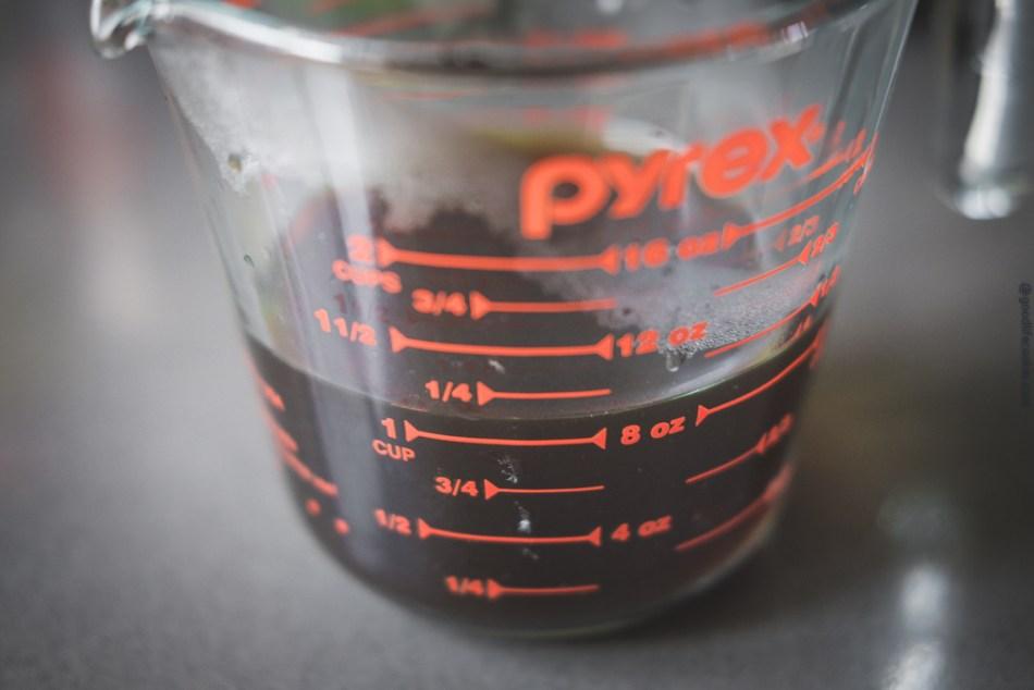 Tamari Liquid in Pyrex Glass