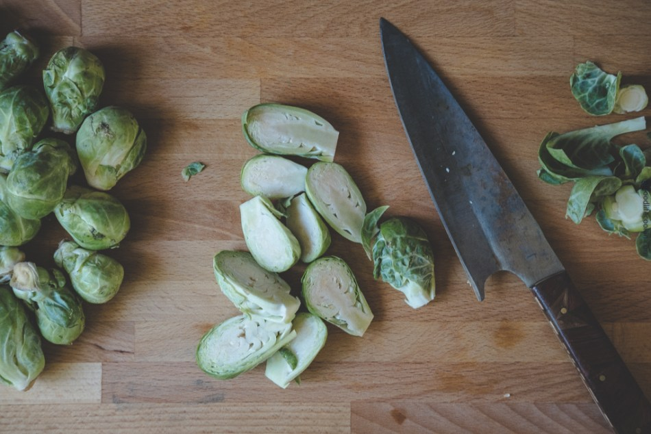 Brussels Sprouts Cut in Half