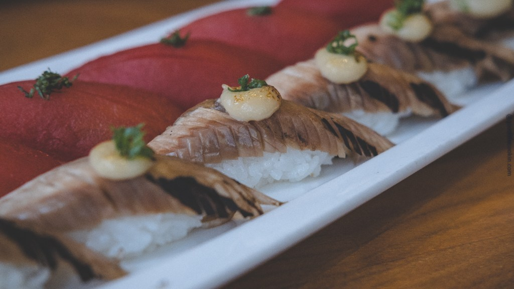 Tomato and Eggplant Nigiri