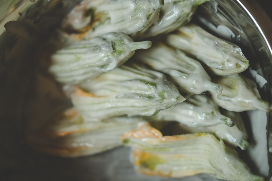 Battered Squash Blossoms