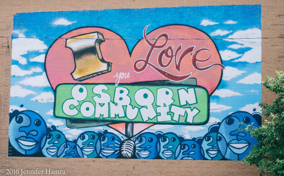 """I Love You Osborn Community"" Mural Unveiling"