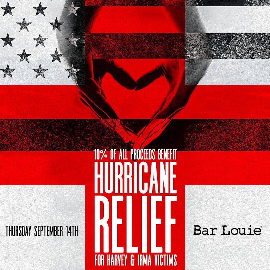 Bar Louie's 'Louie Loves' Fundraiser to Support Hurricane Harvey Relief