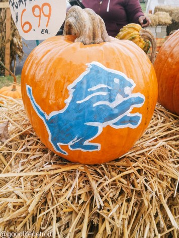 Detroit Lions Pumpkin
