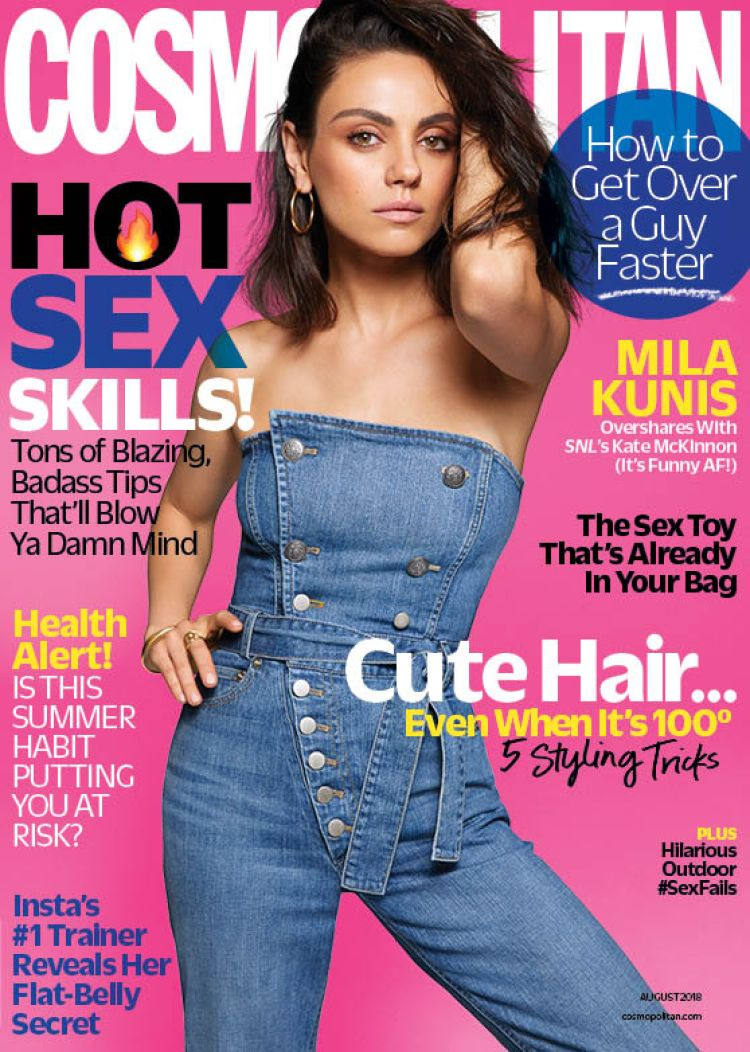Mila Kunis August Issue Cosmopolitan