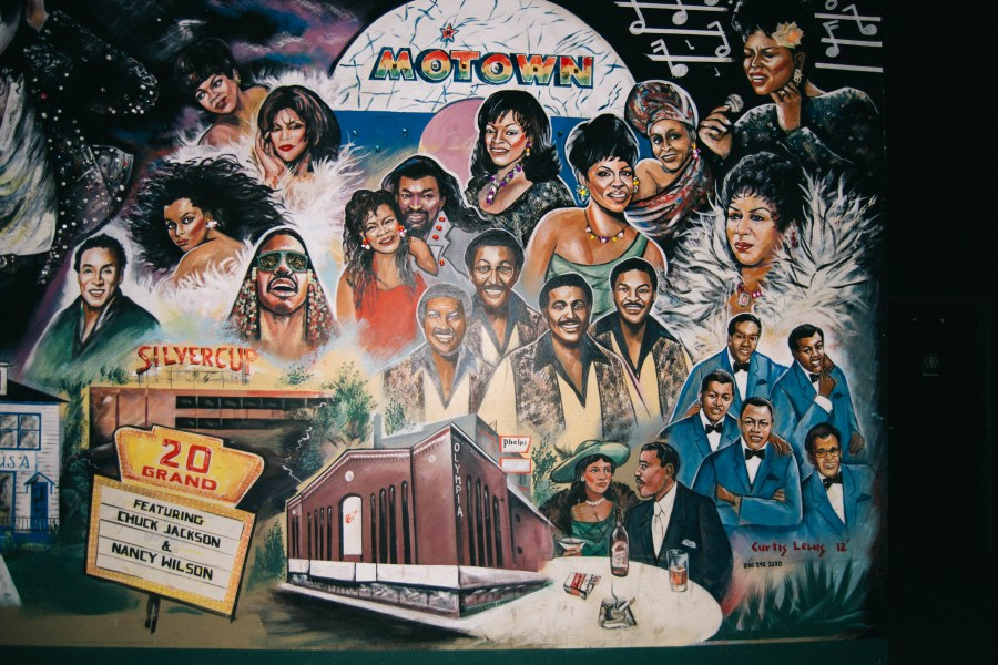 Motown mural Bert's Warehouse