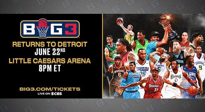 BIG3 Basketball League Season Opener at Little Caesars Arena
