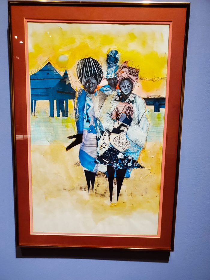 """African American Art: """"Ancestors by the Water's Edge"""" (1989) by artist Brenda Dendy Stroud"""