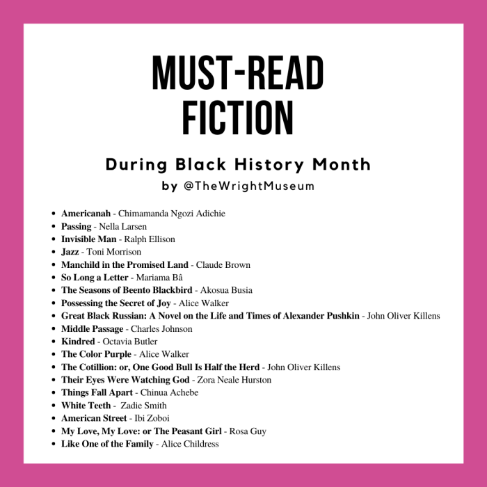 Must-read African American books of fiction recommended by Detroit's Charles H. Wright Museum of African American History.