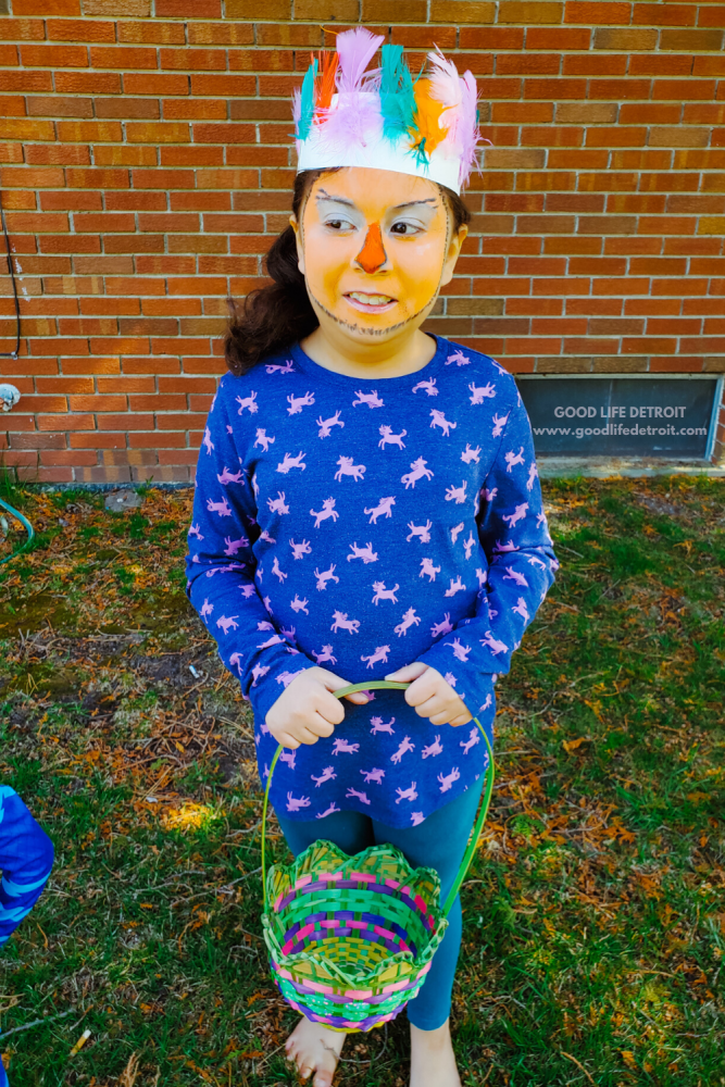 Easter Chick Face Painting