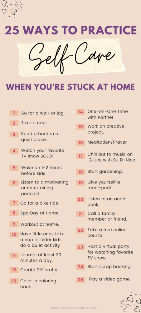 25 Self-Care Activities to Do When You're Stuck at Home