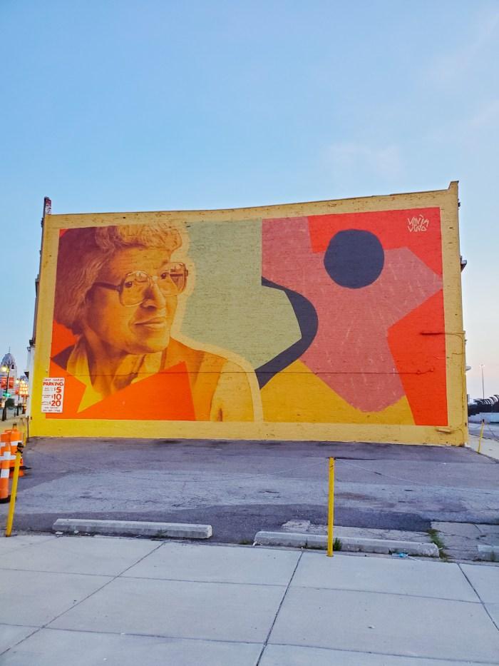 Rosa Parks Detroit mural Kevin Ledo