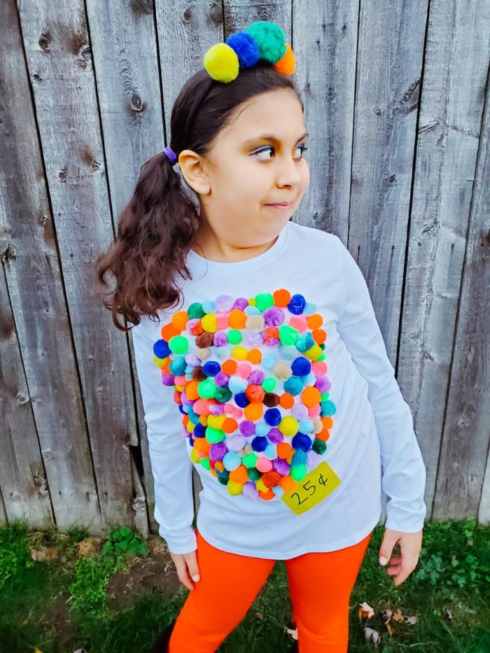 DIY Kids Halloween Costume Idea: Gumball Machine