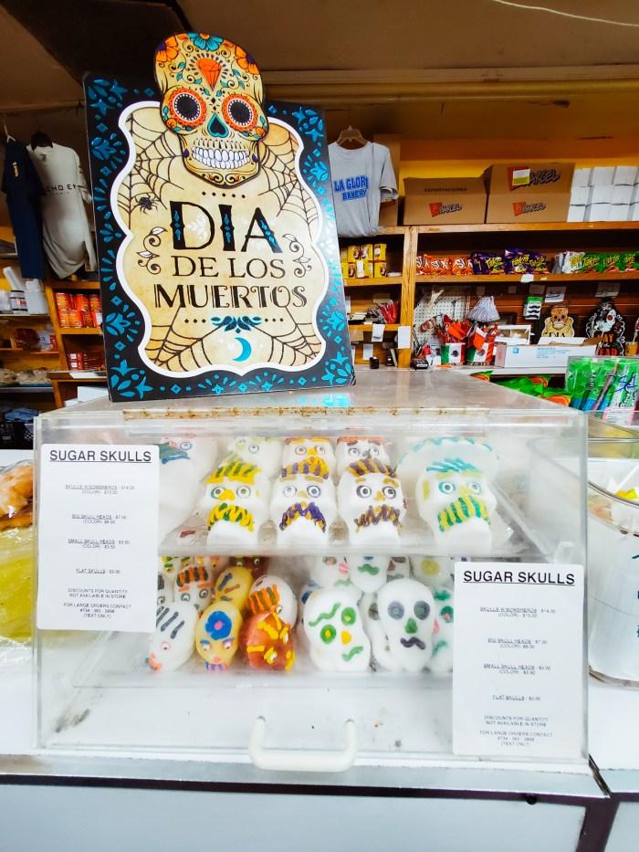 Dia de Los Muertos sugar skull cookies at La Gloria Bakery in Detroit.