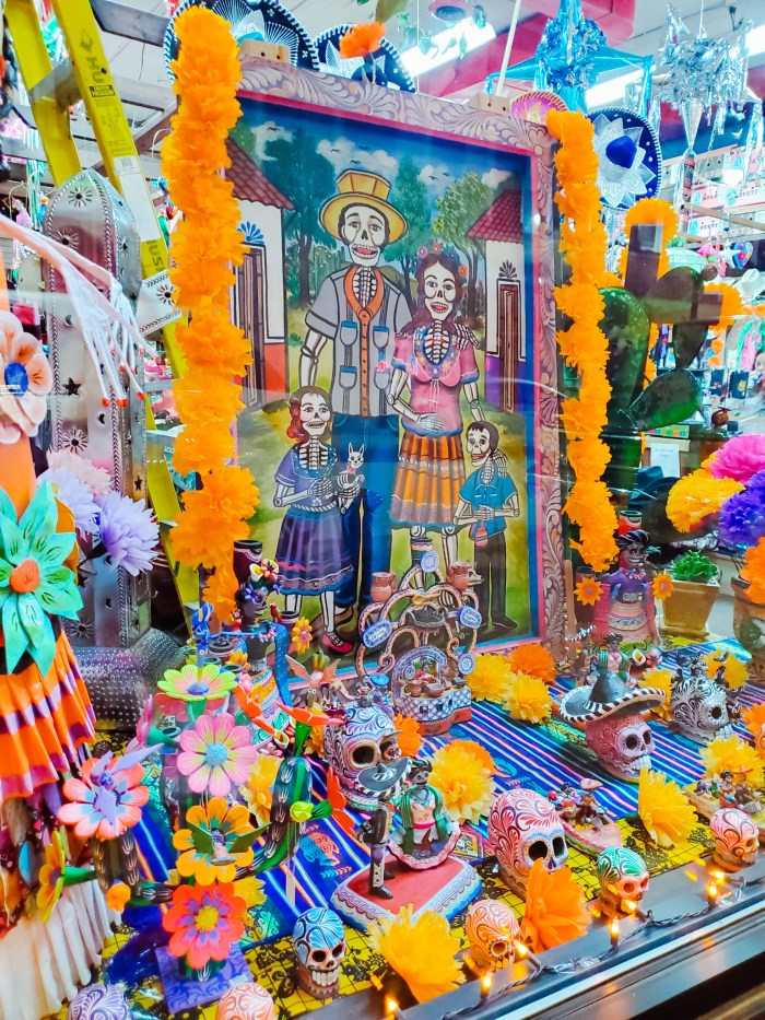 Xochi's Gift Shop Day of the Dead window art display