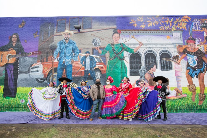 Elton Monroy Mural Honors Southwest Detroit's Community and Rich History