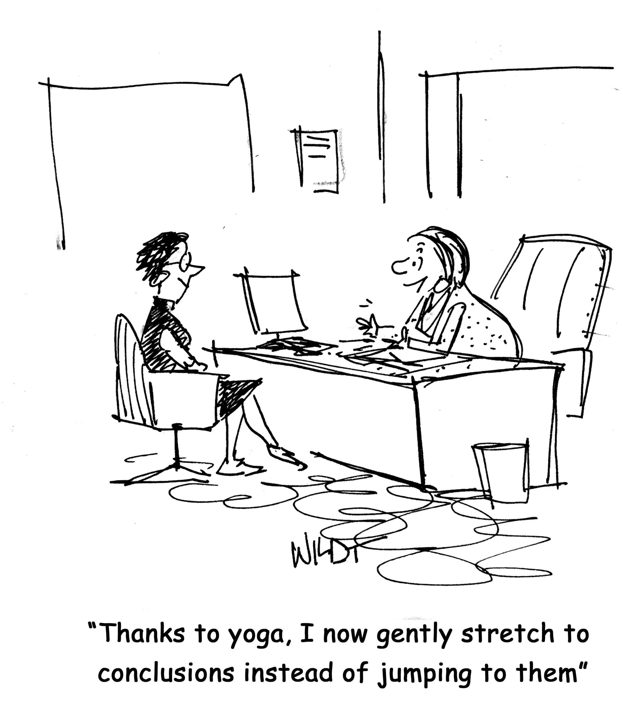 Don T Jump Stretch Yoga Humor