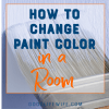 How to change paint color in a room.