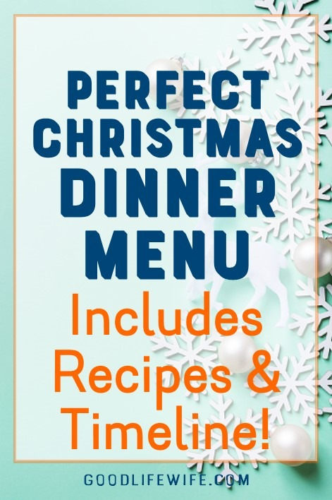 The perfect Christmas dinner and just how to make it! Get a menu, recipes and free, printable timeline. Christmas dinner? Check!
