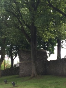 Part of the Roman wall that surrounds the city