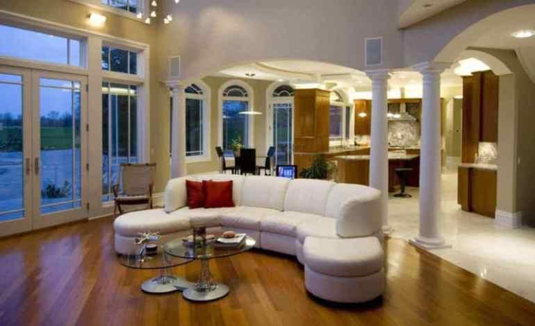Desain Interior Ruangan Depan Pada Rumah Mewah Modern
