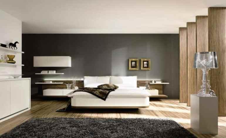 Interior Kamar Tidur Modern Pada Rumah Mewah