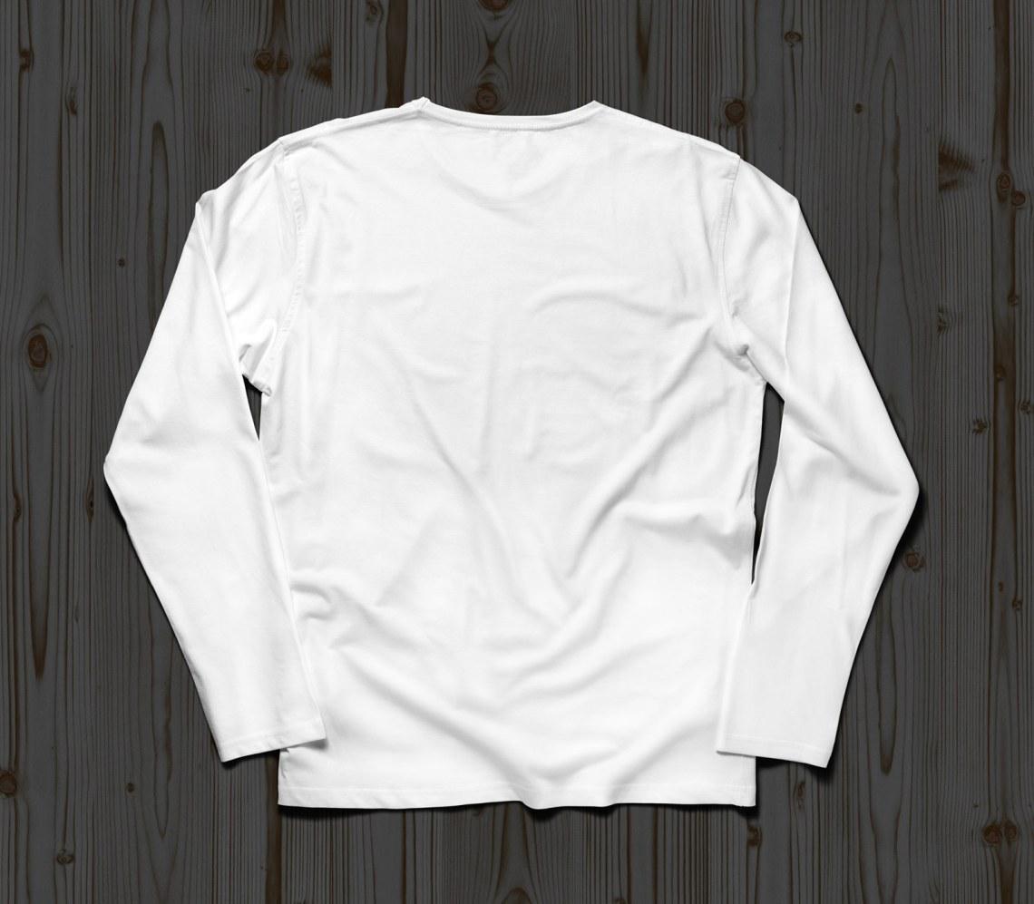 Download Free Full Sleeves T-Shirt Mockup PSD (Front & Back) - Good ...