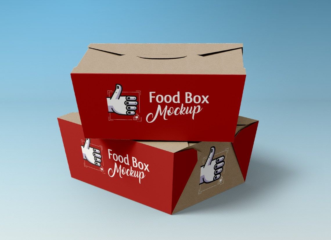 Download Free Sandwich, Food Box & Paper Cup Packaging Mockup PSD ...