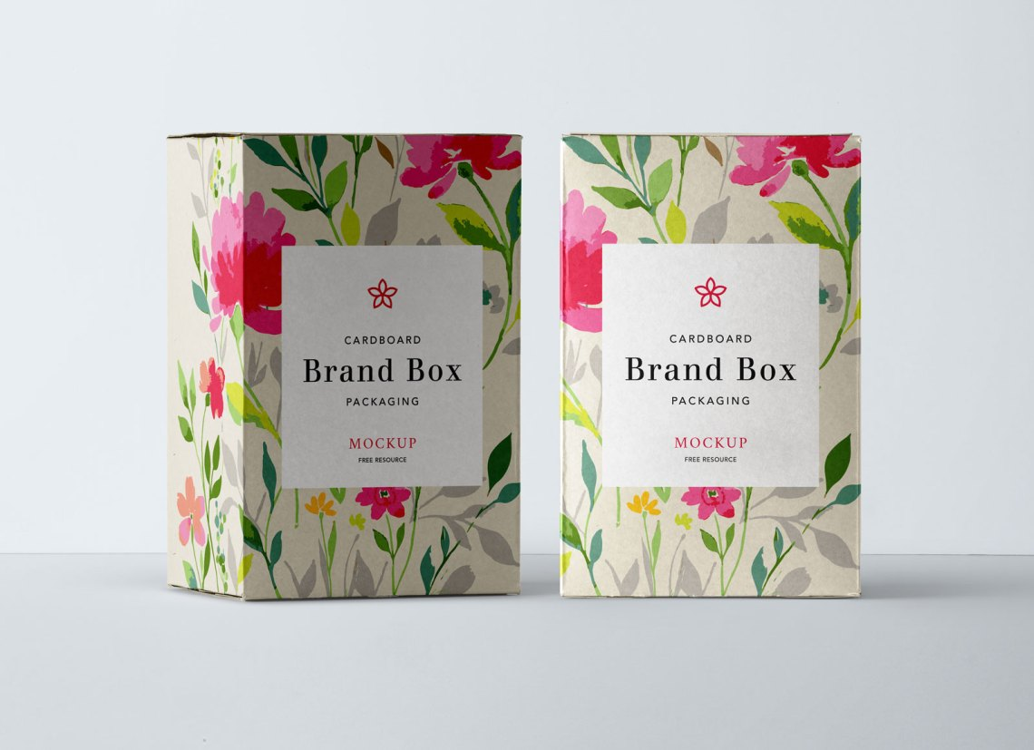 Download Free Cardboard Product Box Packaging Mockup PSD - Good Mockups