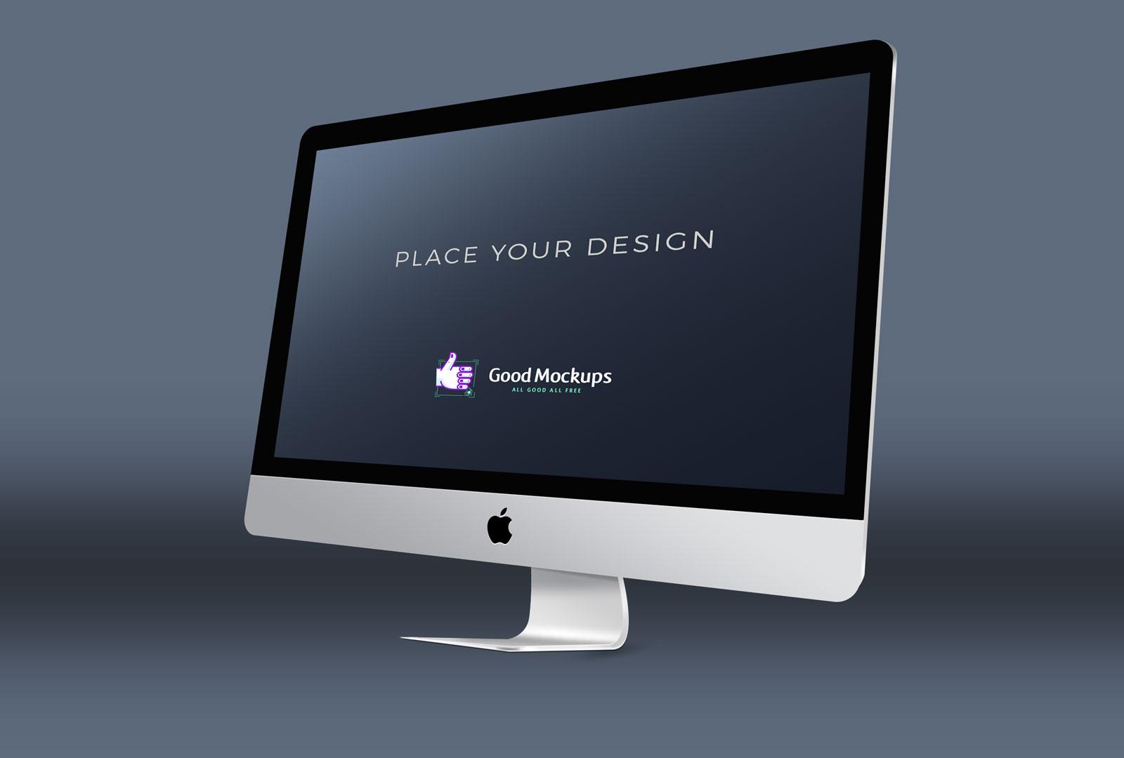 4 Premium Free Apple IMac Mockup PSD Templates Good Mockups