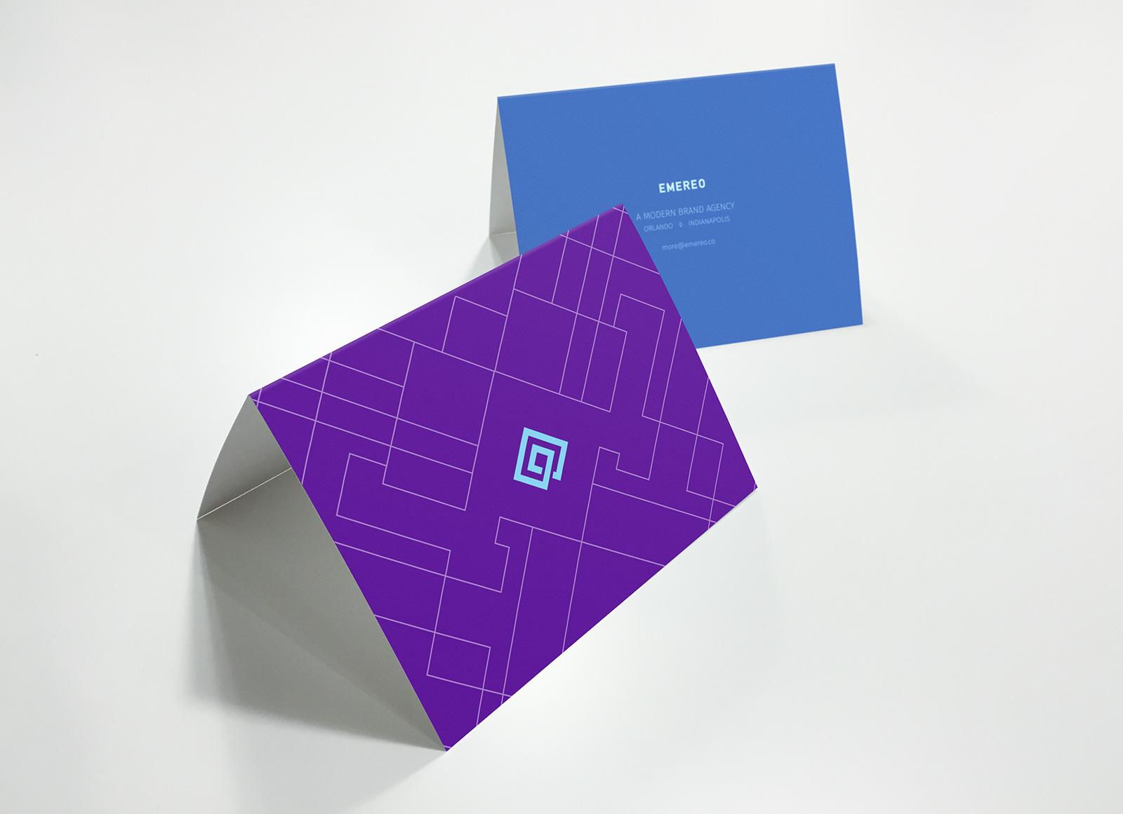 Free Front Amp Back Greeting Card Mockup Psd