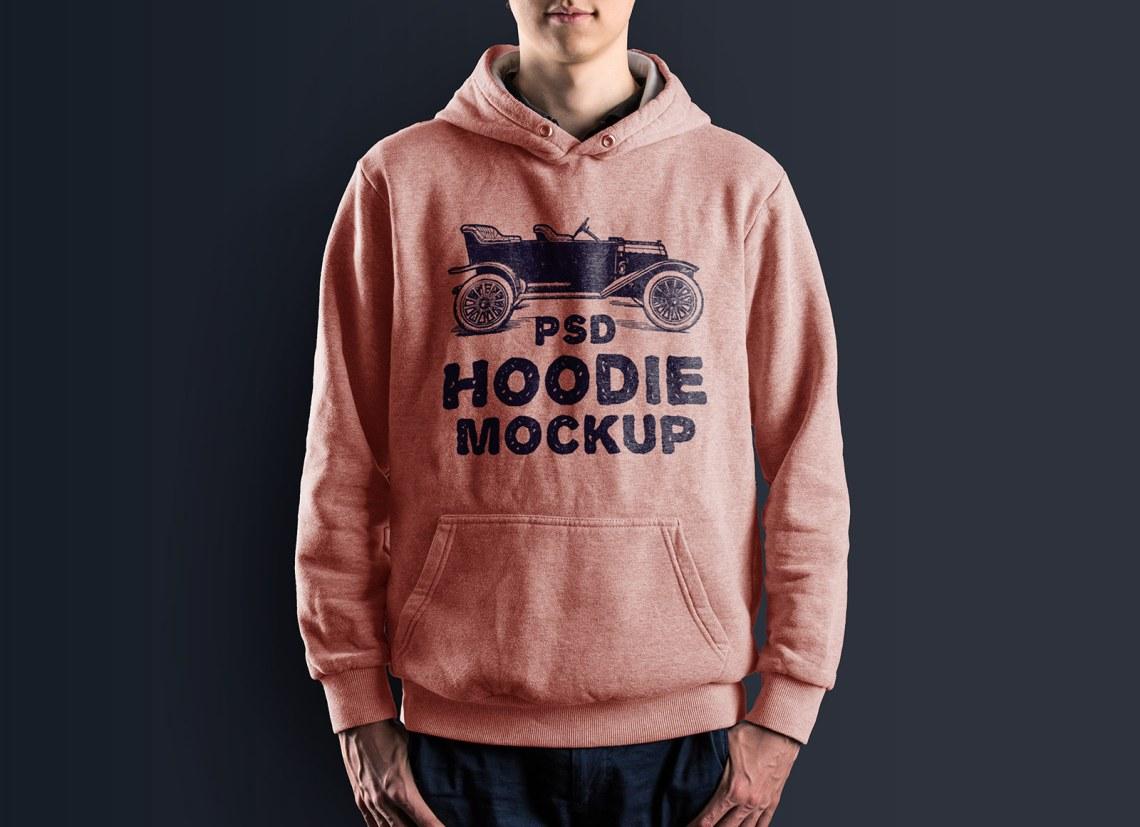 Download Free Men's Hoodie T-Shirt Mockup PSD - Good Mockups