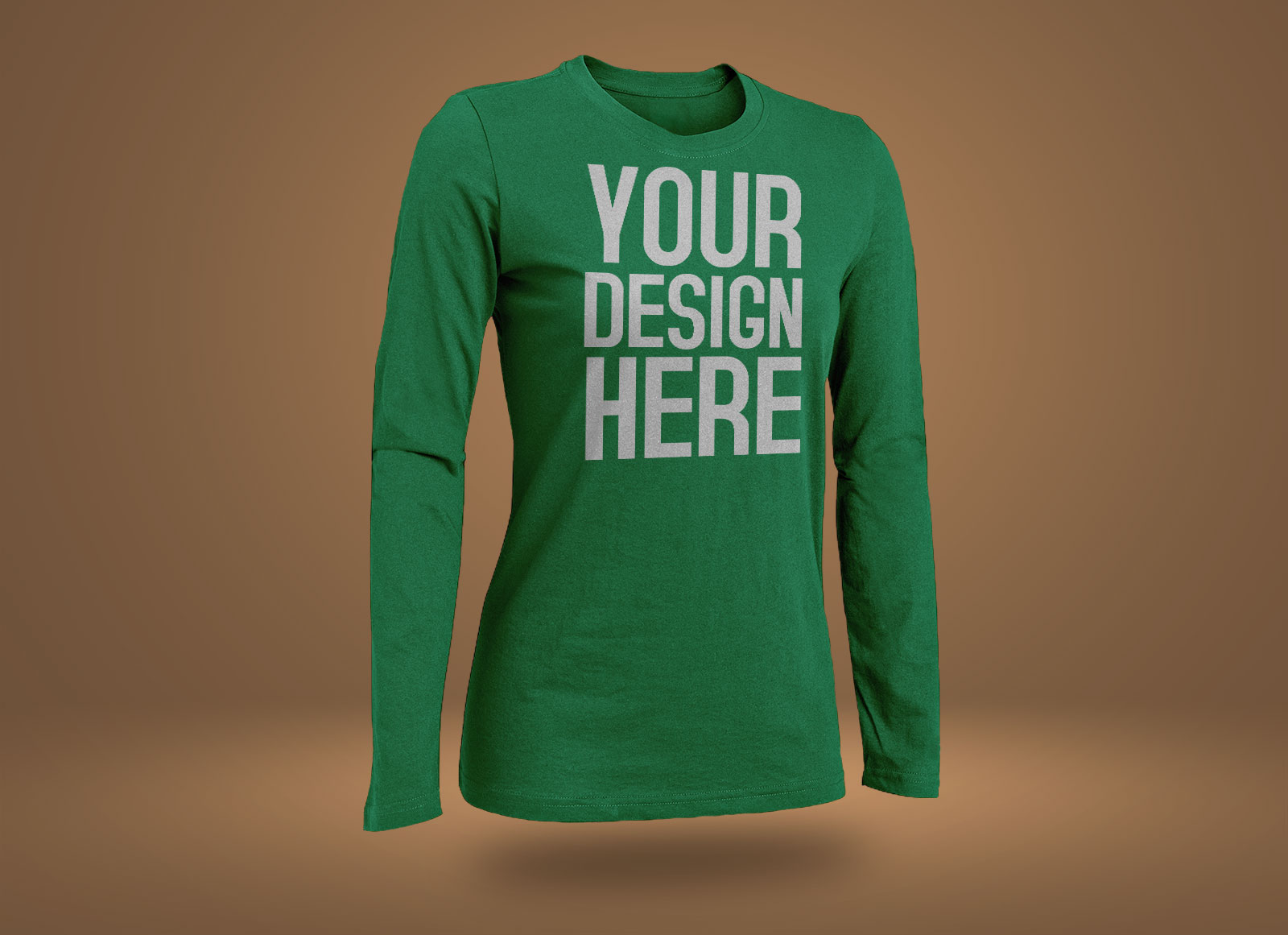 Free Rounded Neck Short Amp Long Sleeves T Shirt Mockup Psd
