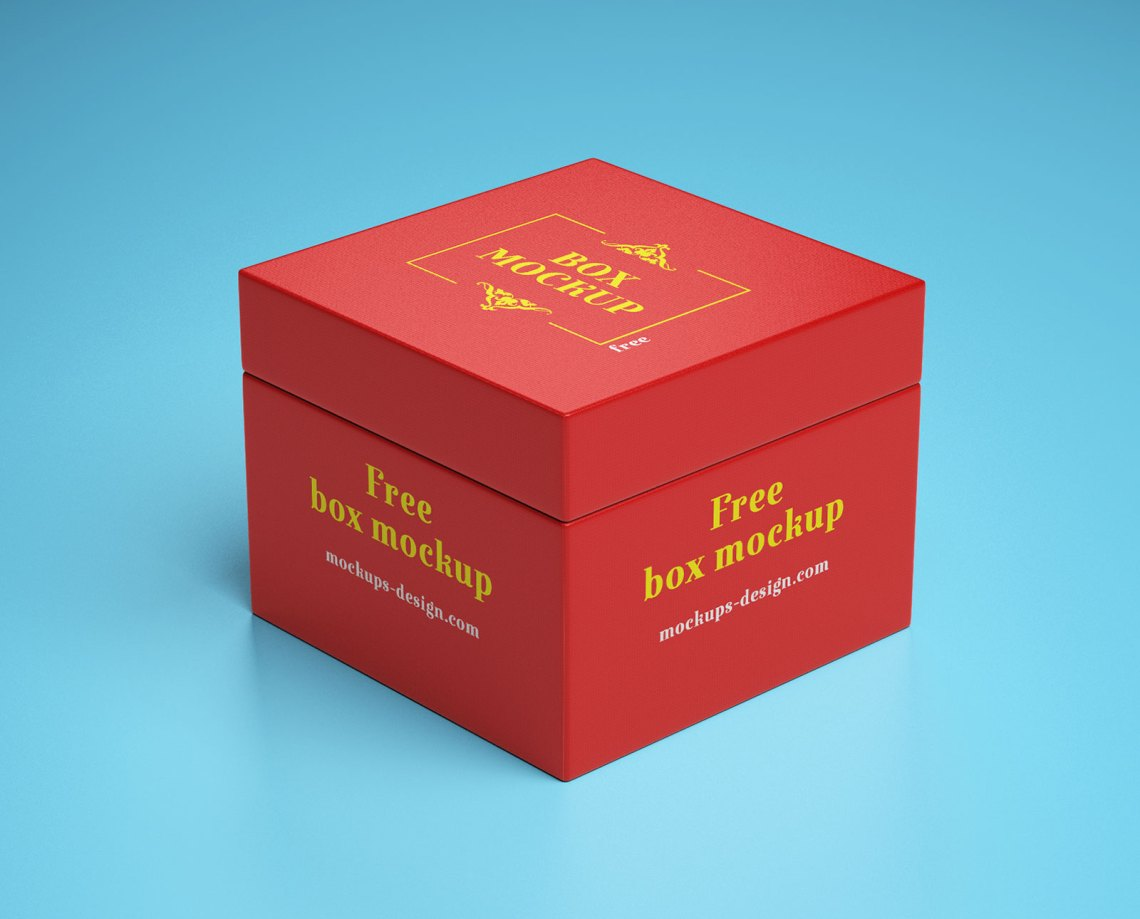 Download Free Gift Box Packaging Mockup PSD - Good Mockups