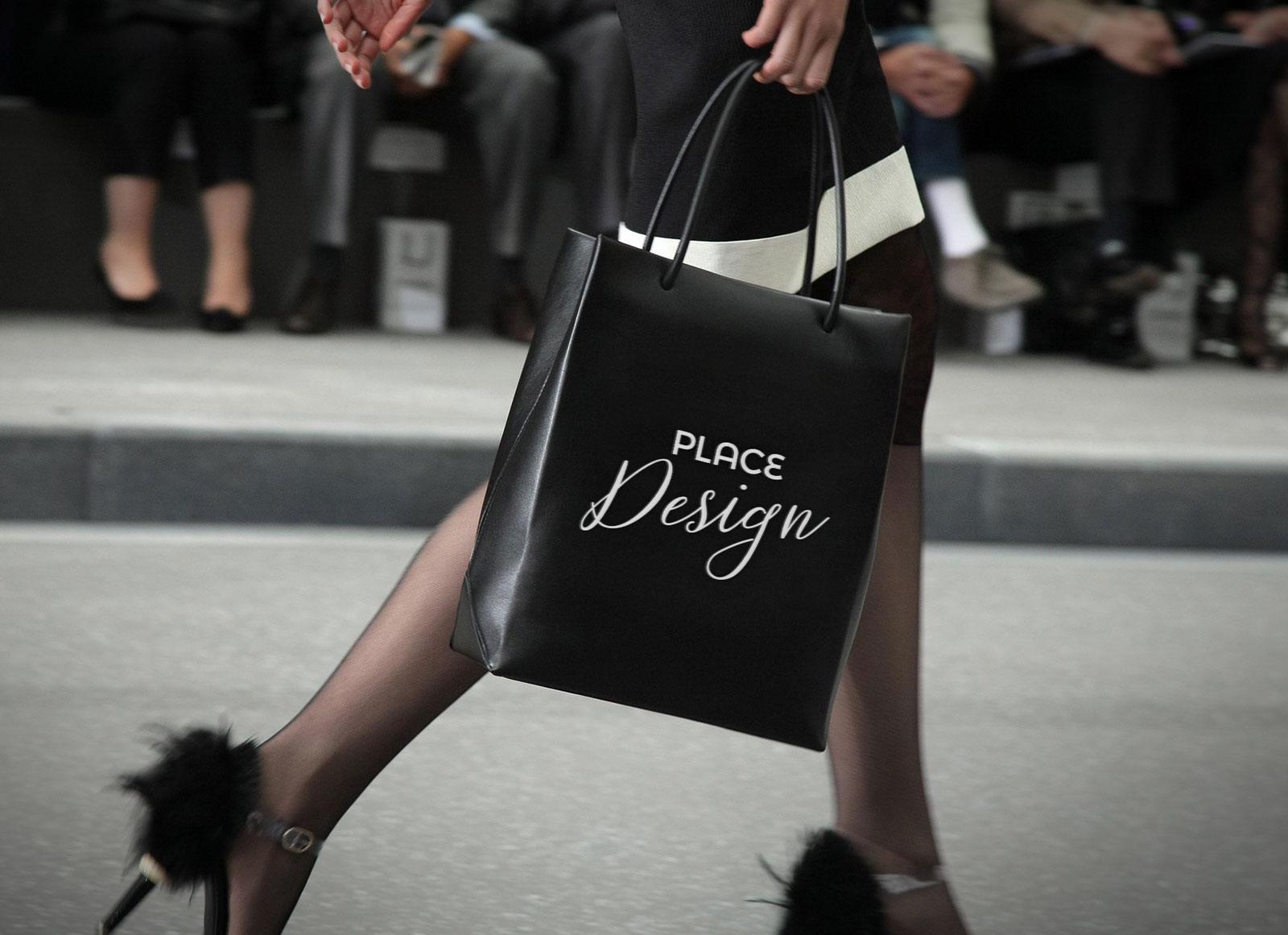 So take a shot at your. Free Leather Shopping Bag Mockup Psd Good Mockups