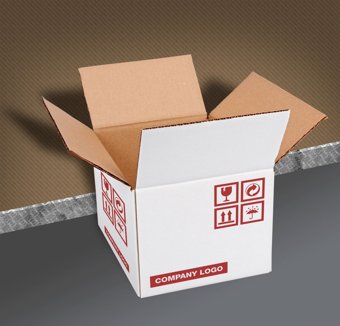 Download Free Brown Corrugated Carton Packaging Box Mockup PSD ...