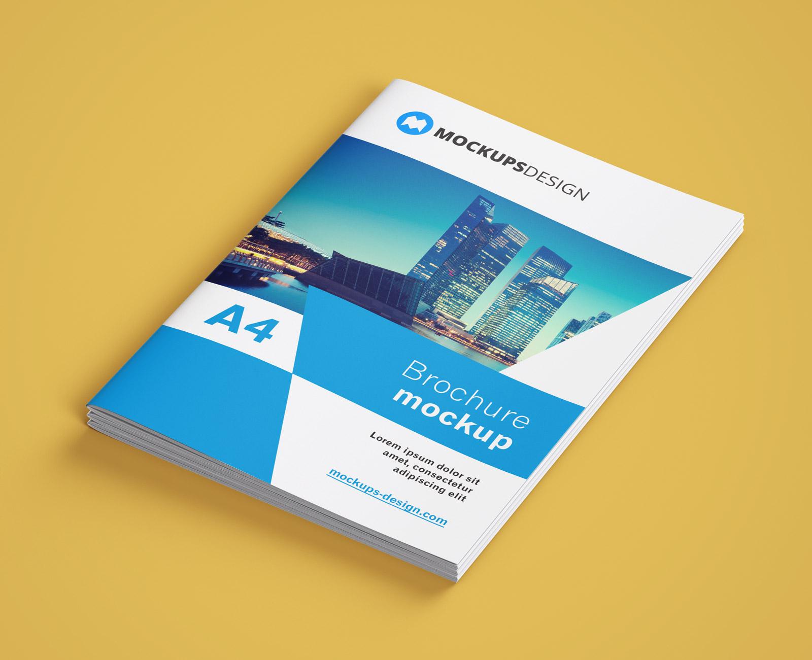 Precision pipes and profiles company news: Free A4 Multi Page Brochure Company Profile Mockup Psd Set Good Mockups