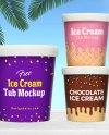 Free Ice Cream Bucket Sorbet Tub Mockup Psd Good Mockups
