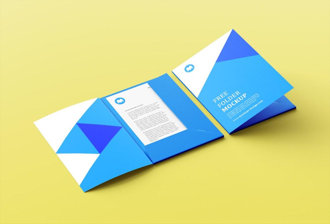 Download Free A4 Size Folder Mockup PSD Set - Good Mockups