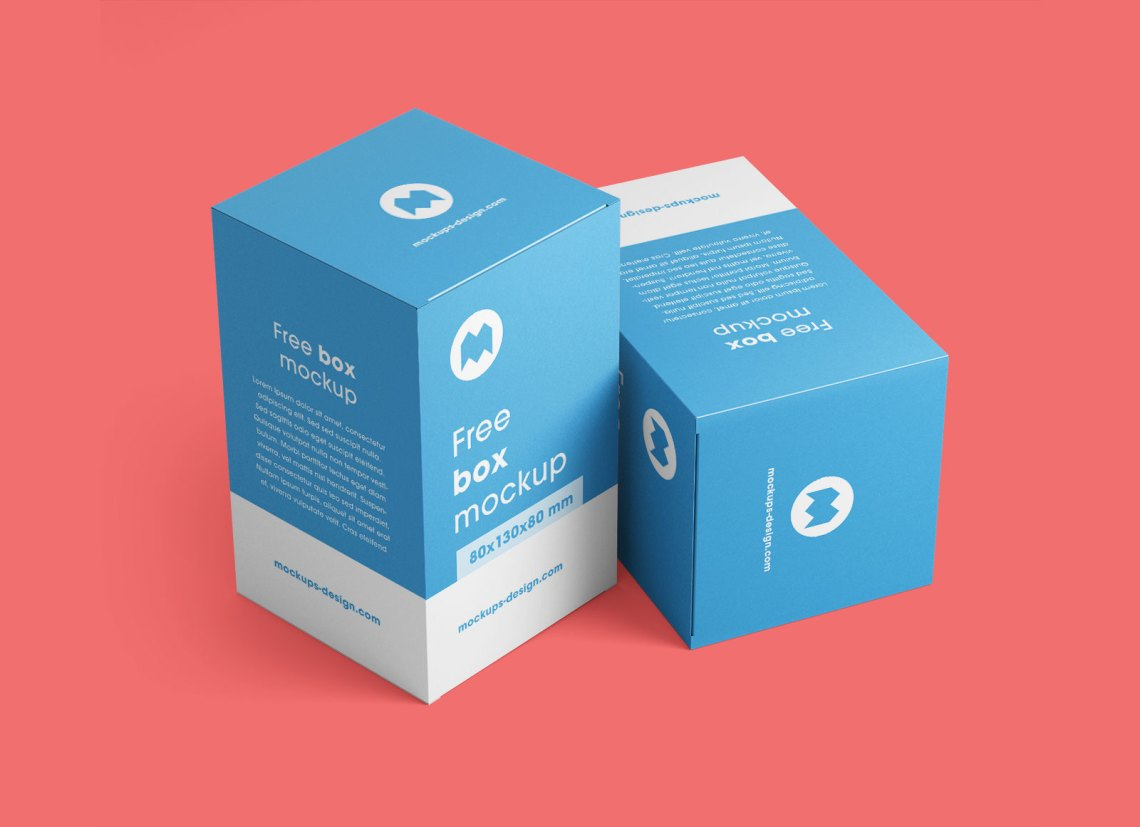 Download Free Cuboid Vertical Box Packaging Mockup PSD Set - Good ...