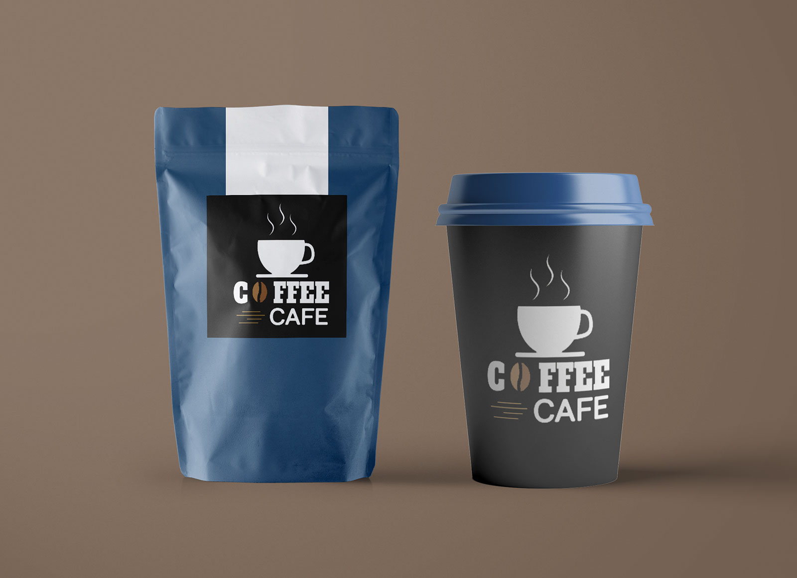Paper coffee bag mockup bundle vol 2. Free Paper Pouch Coffee Bag Cup Packaging Mockup Psd Good Mockups