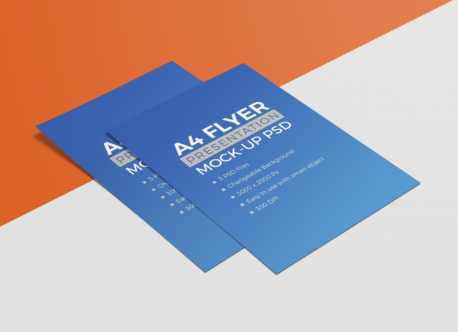 3 Free Premium Quality A4 Size Flyer Resume Mockup Psd Set Good