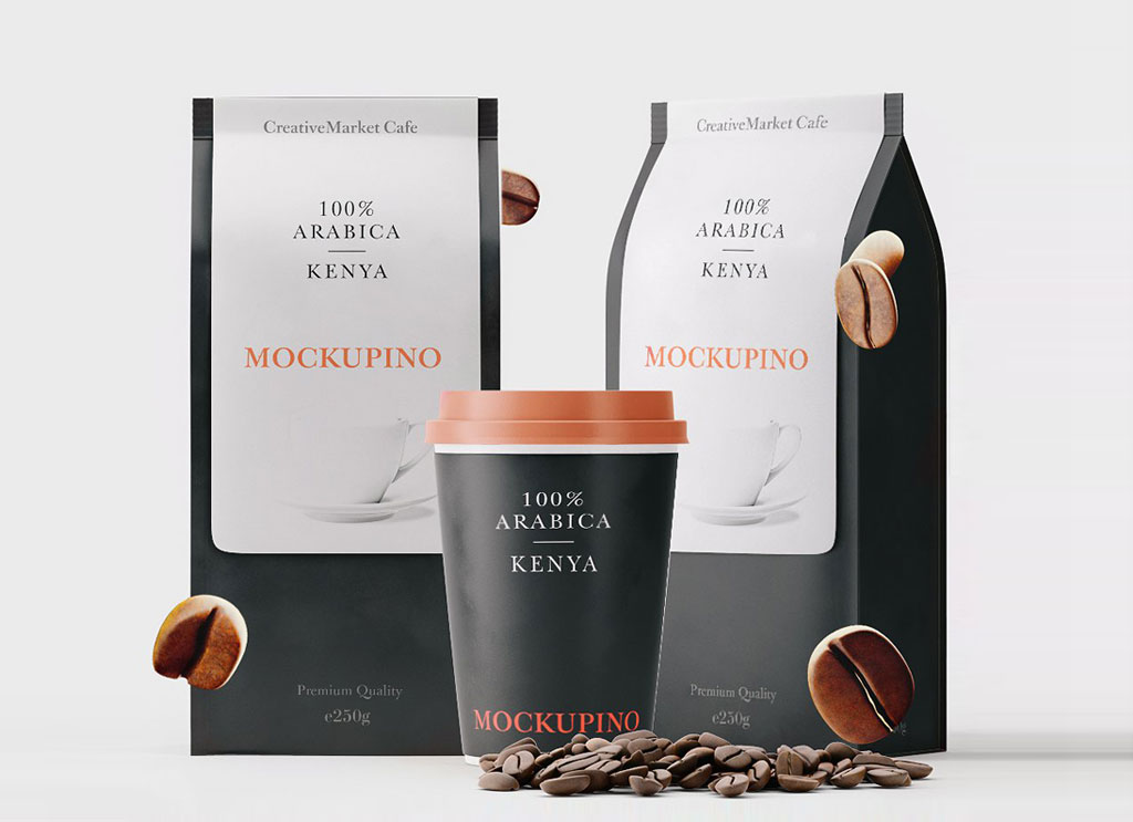 Download Free Paper Coffee Cup & Bag Packaging Mockup PSD Set ...