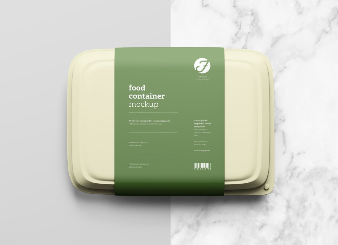Download Free Plastic Food Box Packaging Mockup PSD - Good Mockups