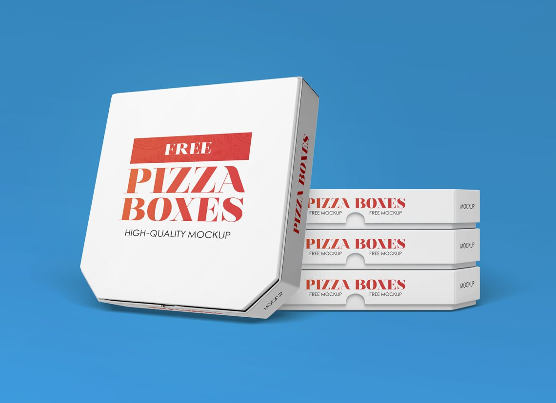 Download Free White Pizza Box Packaging Mockup PSD - Good Mockups